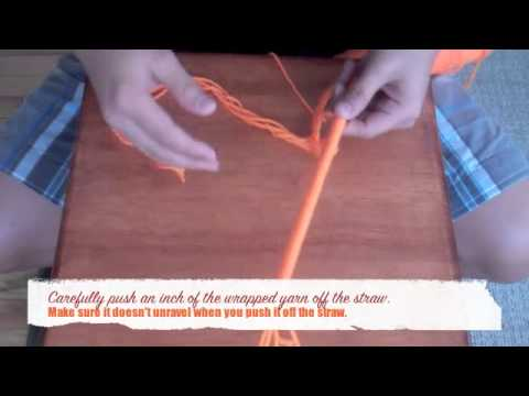 How To Make An Artificial Ilima Lei Out Of Yarn Youtube