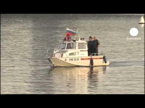 Pleasure boat sinks on the Moscow River