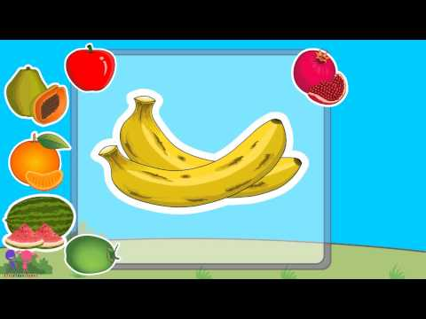 Basic Fruits Names with Pictures for Nursery Kids & Children