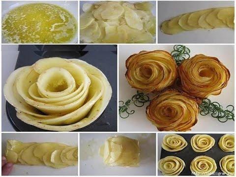 Картофельные розочки рецепт с фото