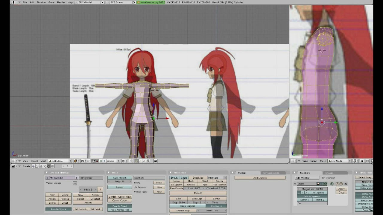 Blender Character Modeling For Games : Modeling a low poly game character in blender the arms