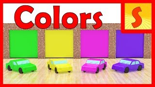 Learning colors for children with cars and a fun song