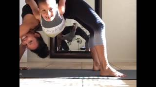 Mom and Son Bond During Yoga Pose
