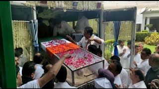 Visuals: Congress leader Sheila Dikshit's mortal remains reach AICC Headquarters | Sonia Gandhi |