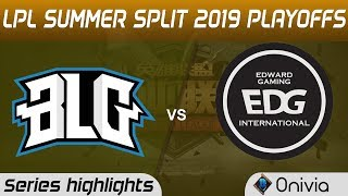 BLG vs EDG Highlights All Games LPL Summer 2019 Playoffs Bilibili Gaming vs Edward Gaming LPL Highli