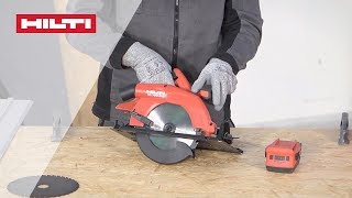 HOW TO use your Hilti SC 70W-A22 Cordless Circular Saw with the Guide Rail