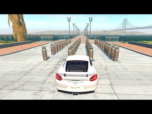 BeamNG drive  Tanques de Gas VS Autos