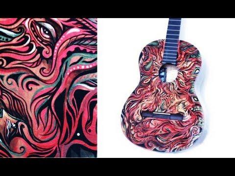 Custom Painted Guitar Natasha Kudashkina Youtube