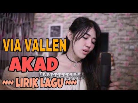 Payung Teduh - Akad (cover) by Via Vallen ( Lirik Lagu )