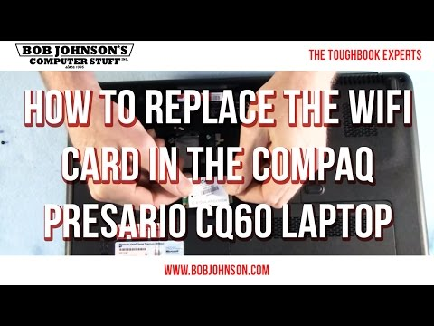 How to replace the WIFI Card in the Compaq Presario CQ60 Laptop