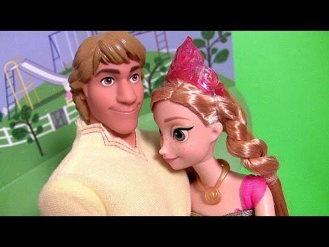 Princesa Anna Namorando Kristoff in Love e Apaixonada Disney Frozen O Reino do Gelo