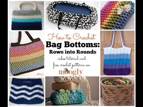 How to Crochet: Bag Bottoms: Rows to Rounds - YouTube