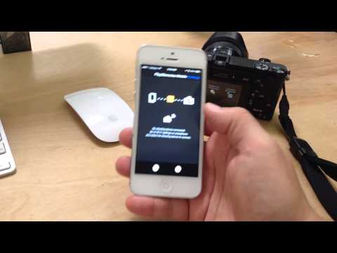 Sony a6000 camera with iPhone smart remote control