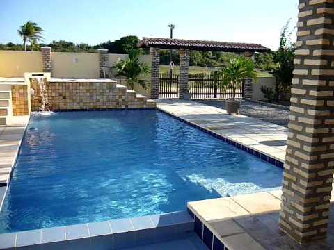 Ville con piscina di acqua minerale immersa nella natura nei pressi di natal brasile youtube - Progetto villa con piscina ...