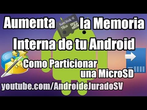 Como Particionar una Memoria MicroSD para Aumentar la Memoria Interna de tu Android