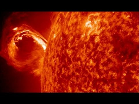 Powerful Eruption on the Sun's Surface | NASA SDO CME Space Science HD