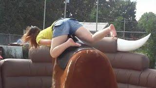 Mechanical Bull Riding Fail Compilation [NEW]