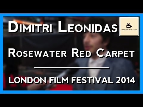 Dimitri Leonidas on the 'Rosewater' red carpet   BFI LFF 2014