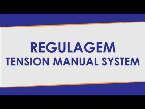 Dicas de Manuseio   7   Regulagem do Tensionador   TMS Máquinas de Encordoar Raquetes