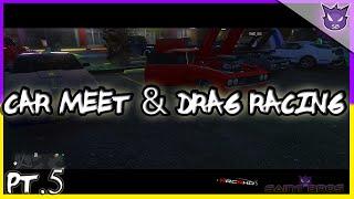 GTA Online | Car Meet & Drag Racing [PART 5] Ft. HRC | Muscle Cars, Sport cars (Ps4)