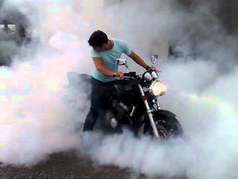 Honda CB400 super four Insane burnout
