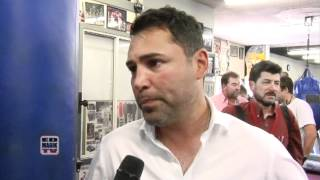 Golden Boy Oscar De La Hoya Interview at Freddie Roachs Wildcard Gym