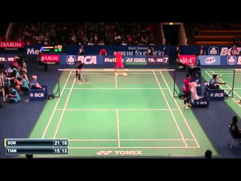2015 BCA Indonesia Open R32 [MS] SON Wan Ho vs TIAN Houwei (Sports)