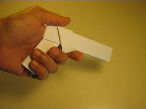 How to make a paper gun that shoots (HD)