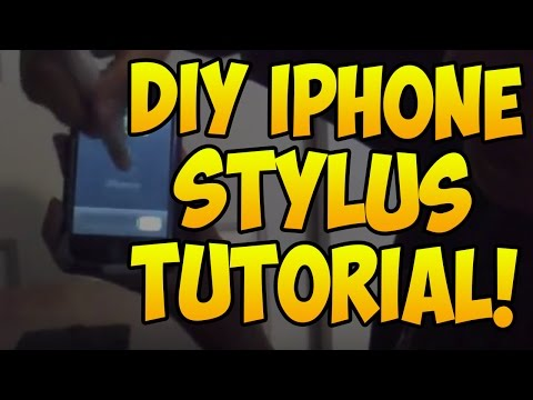 Make your own DIY iPhone or iPad Stylus! (FREE!)