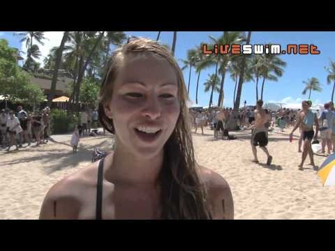 Lindsay Haywood Post Race Interview - 2010 Waikiki Rough Water Swim