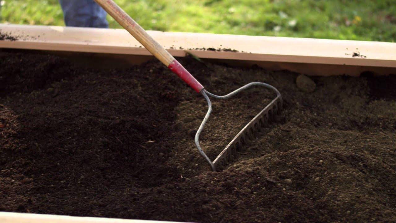 Raised Bed Gardening Soil Preparation Troy Bilt Youtube