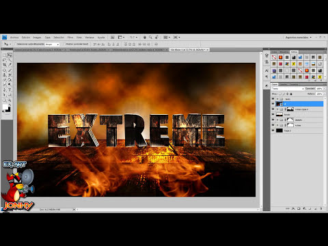 Tutorial Photoshop - Texto Volcanico