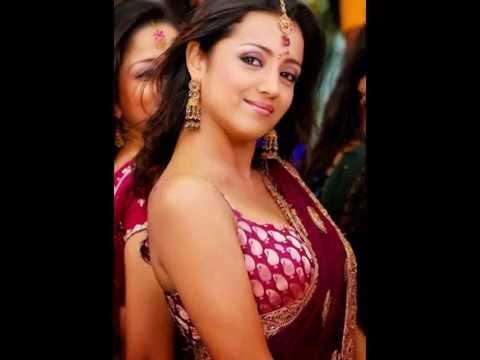 Trisha Hot Ever in Red Saree
