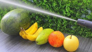 EXPERIMENT : HIGH PRESSURE WASHER 10000 PSI VS FRUITS