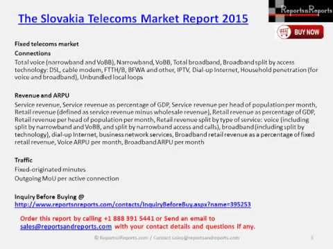The Slovakia Telecoms Market Report 2015