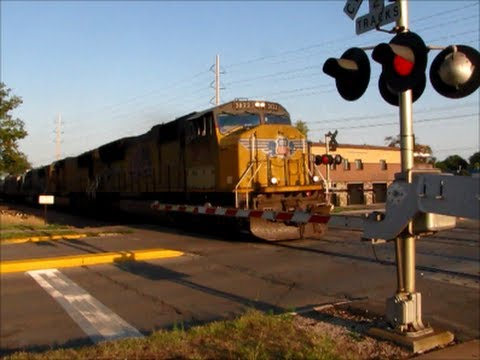 Union Pacific ethanol train with CSX SD60