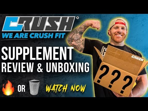 [Complete Review] CRUSH FIT Supplements | Taste Test & Unboxing | Pre-Workout & BCAA | @RobTramonte