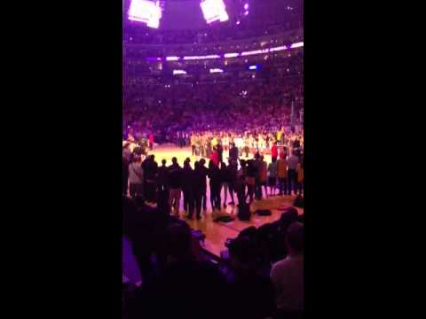 Kobe/Phil- Shaq's jersey retirement ceremony