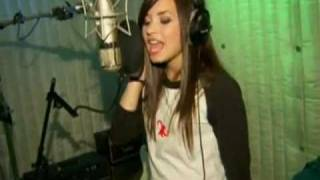 Demi in the recording studio.