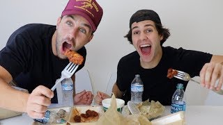 EPIC ATOMIC WING MUKBANG FT DAVID DOBRIK, SCOTTY SIRE AND TODDY SMITH