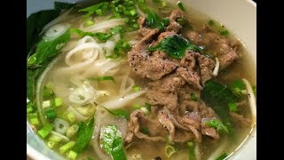 How to make Vietnamese Beef Pho noodles recipe - Cach nau pho bo