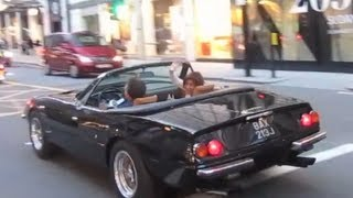 RARE Ferrari Daytona driving in London