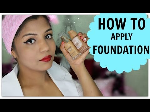 How To Apply Foundation Indian Skin Tone Brown,medium,dark,olive,beige Skin video