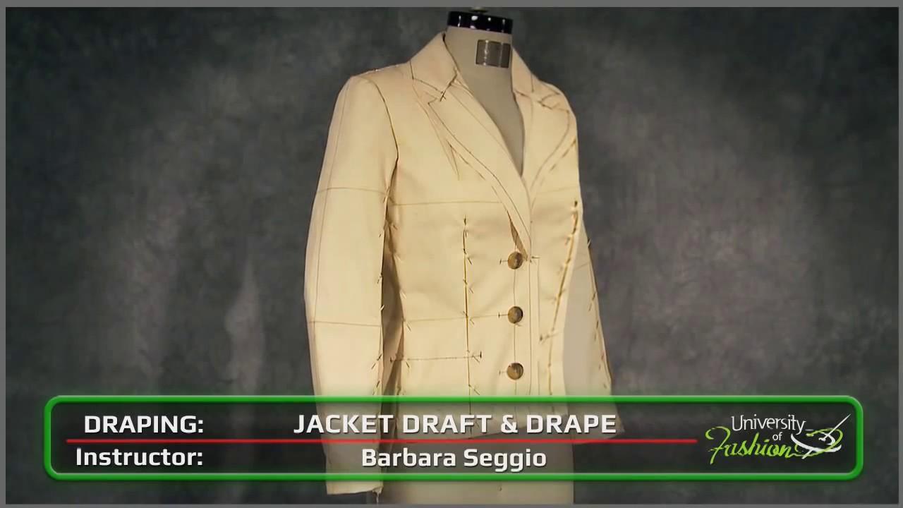 Drape Jacket Pattern Tailored Jacket Pattern