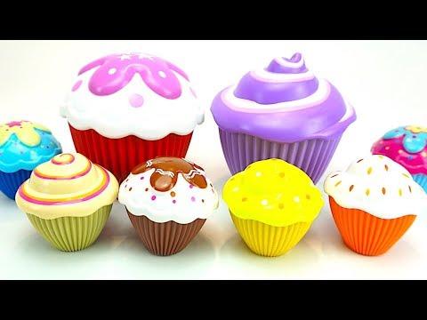Сюрпризы и игрушки кукл в кексах  Игрушки принцесс для девочек  Детский канал Игрушкин ТВ
