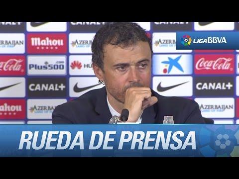 Rueda de prensa de Luis Enrique tras el Atlético de Madrid (0-1) FC Barcelona