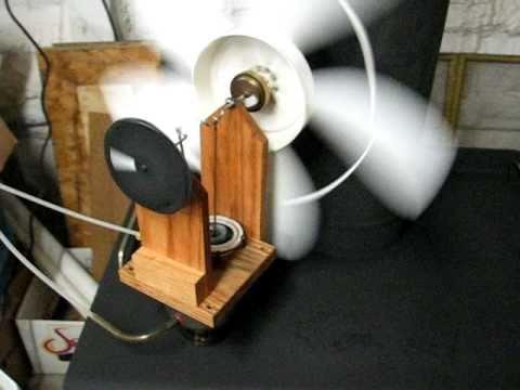 Stirling engine woodstove fan test