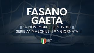 Serie A1M [9^]: Fasano - Gaeta 25-24