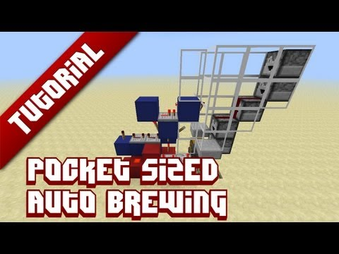 Minecraft Tutorial: Pocket sized automatic brewing [1.5]
