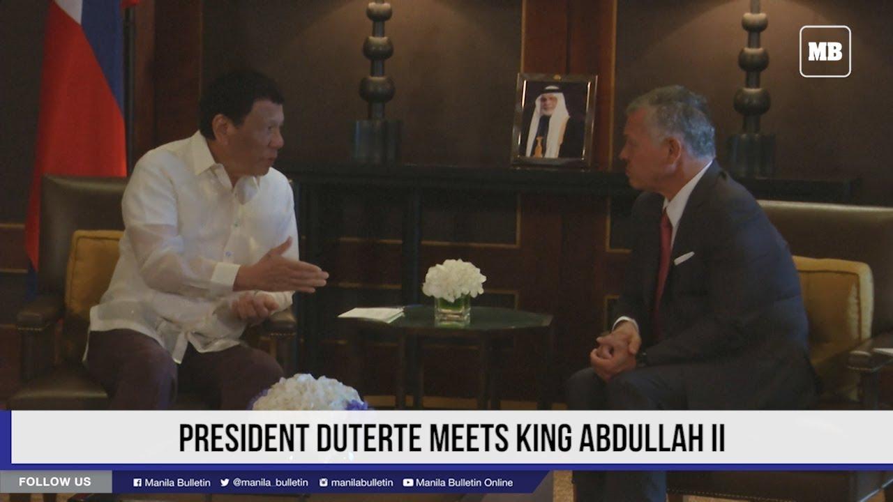 President Duterte meets King Abdullah II
